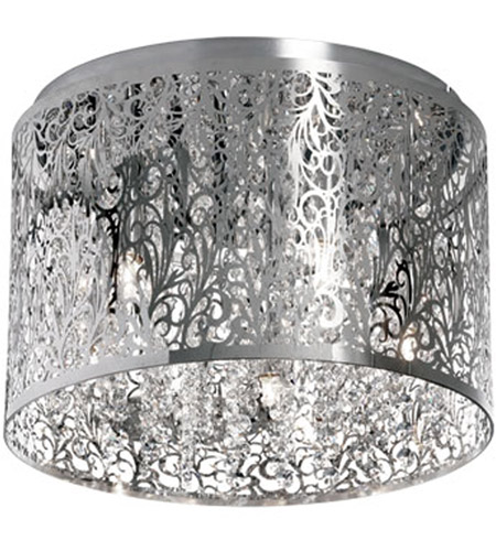 Dainolite SIE-104FH-PC Sienna LED 10 inch Polished Chrome Flush Mount Ceiling Light