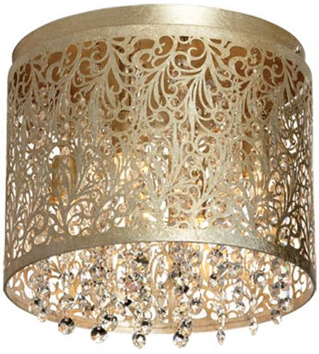 Dainolite Sie 104fh Pg Sienna Led 10 Inch Palladium Gold Flush Mount Ceiling Light