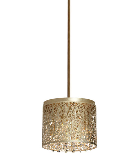 Dainolite SIE-114C-PG Sienna 4 Light 10 inch Palladium Gold Chandelier Ceiling Light