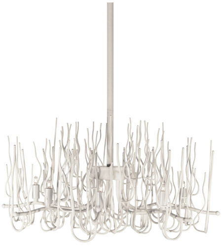 Dainolite SPA-248C-WH Sophora 8 Light 24 inch Matte White Chandelier Ceiling Light photo