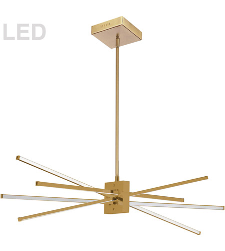 Dainolite SUM-35HP-AGB Summit LED 34 inch Aged Brass Pendant Ceiling Light