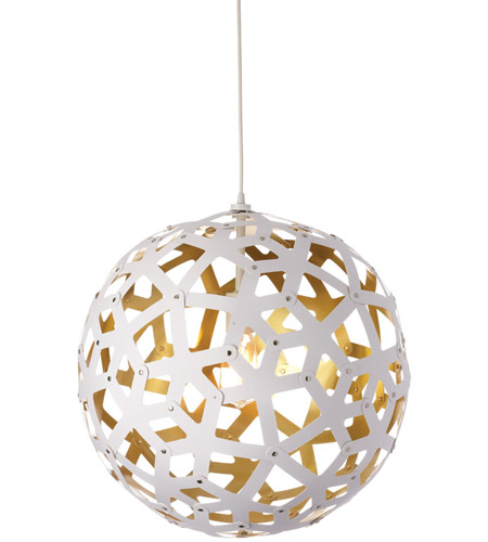 Dainolite TAL-221P-692 Talini 1 Light 22 inch White and Gold Pendant Ceiling Light