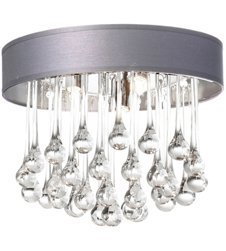Dainolite TAM-133FH-SV Tamara 4 Light 13 inch Polished Chrome Flush Mount Ceiling Light