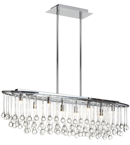 Dainolite TAM-368HC-PC Tamara 8 Light 10 inch Polished Chrome Chandelier Ceiling Light