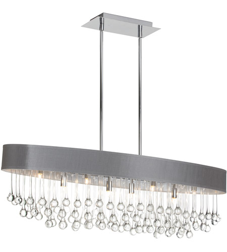 Dainolite TAM-388HC-SV Tamara 8 Light 38 inch Polished Chrome Chandelier Ceiling Light photo