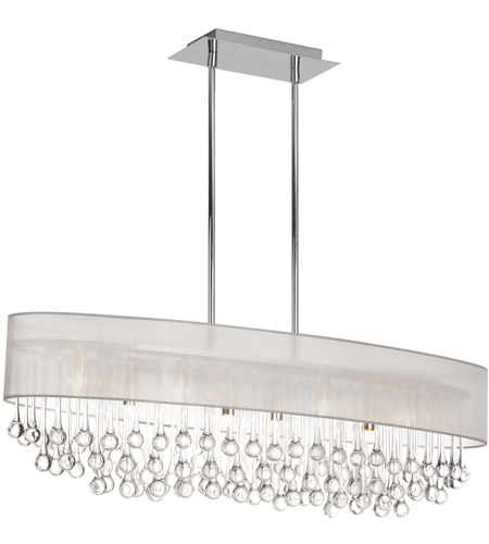 Dainolite TAM-398HC-OYS Tamara 8 Light 38 inch Polished Chrome Chandelier Ceiling Light photo