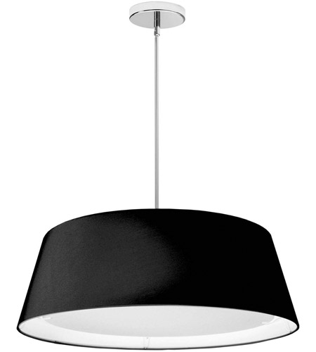 Dainolite TDLED-24LP-BK Signature 1 Light 24 inch Black Pendant Ceiling Light
