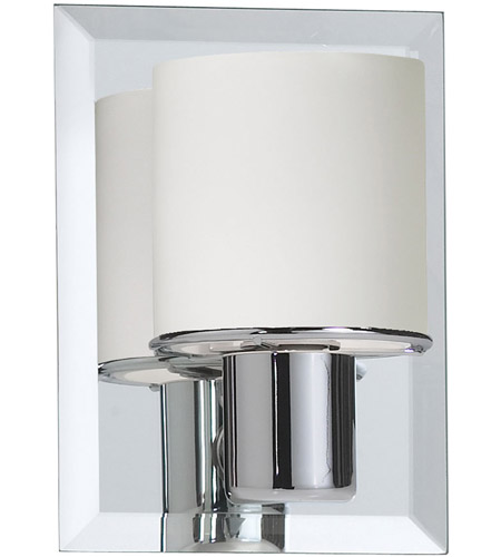 Dainolite Lighting Frosted Glass 1 Light Vanity in Polished Chrome  V020-1W-PC photo
