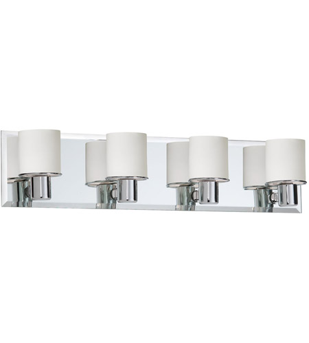 Dainolite Lighting Frosted Glass 4 Light Vanity in Polished Chrome  V020-4W-PC photo