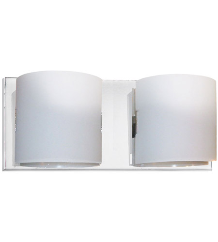 Dainolite Lighting Frosted Glass 2 Light Vanity in Polished Chrome  V030-2W-PC photo