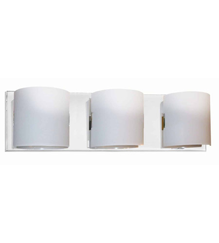 Dainolite Lighting Frosted Glass 3 Light Vanity in Polished Chrome  V030-3W-PC photo