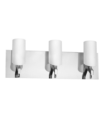 Dainolite Lighting Frosted Glass 3 Light Vanity in Polished Chrome  V070-3W-PC photo