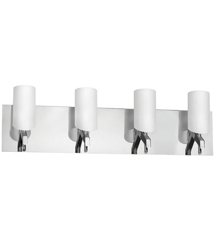 Dainolite Lighting Frosted Glass 4 Light Vanity in Polished Chrome  V070-4W-PC photo