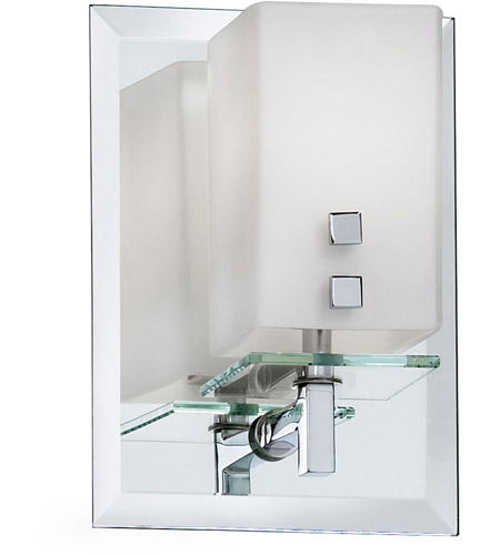 Dainolite Lighting Frosted Glass 1 Light Vanity in Polished Chrome  V099-1W-PC photo