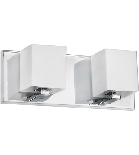 Dainolite Lighting Frosted Glass 2 Light Vanity in Polished Chrome  V1230-2W-PC photo