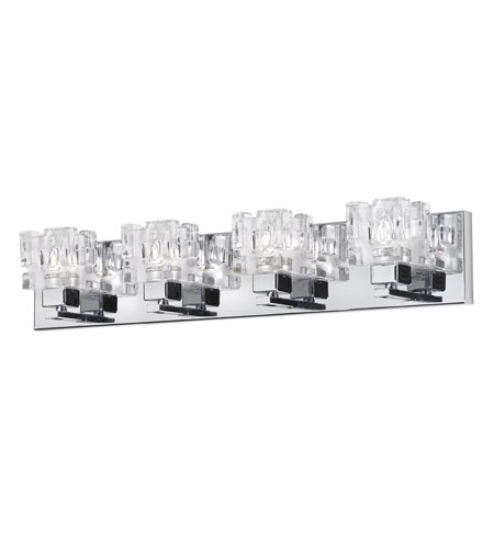 Dainolite Lighting Clear Crystal 4 Light Vanity in Polished Chrome  V1232-4W-PC photo