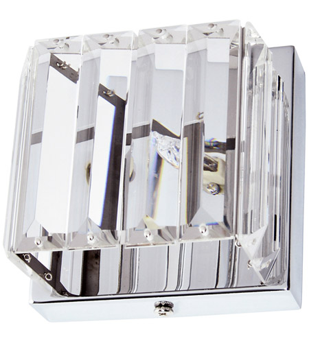Dainolite V1600-1W-PC Signature LED 5 inch Clear and Polished Chrome Sconce Wall Light in 1