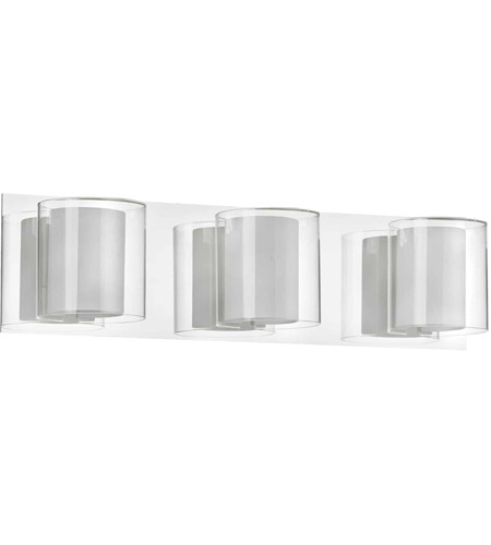 Dainolite V311-3W-PC Clear Crystal 3 Light 19 inch Polished Chrome Vanity Wall Light photo