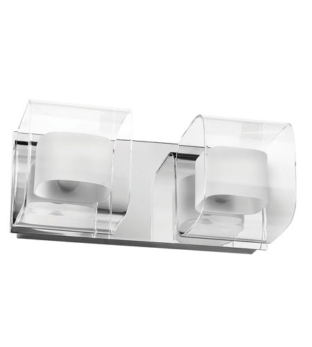 Dainolite Lighting Frosted Glass 2 Light Vanity in Polished Chrome  V6015-2W-PC photo