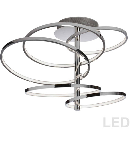 Dainolite VAL-285SF-PC Valarie LED 21 inch Polished Chrome Semi-Flushmount Ceiling Light