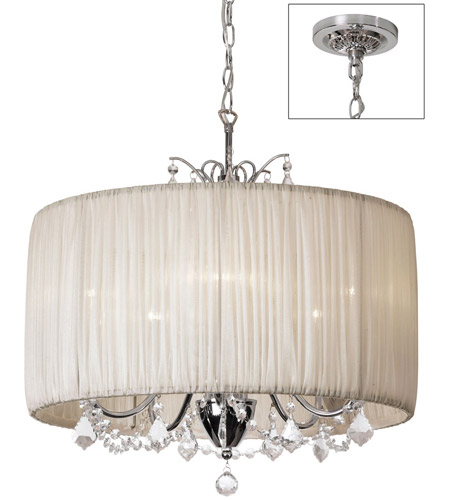 Dainolite VIC-205C-PC-317 Victoria 5 Light 20 inch Polished Chrome Chandelier Ceiling Light photo