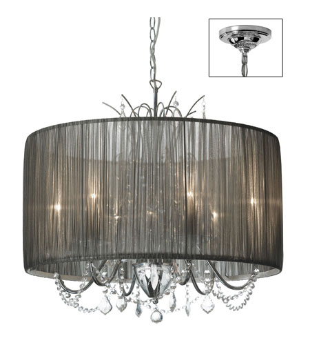 Dainolite Lighting Victoria 6 Light Chandelier in Polished Chrome  VIC-256C-PC-316 photo