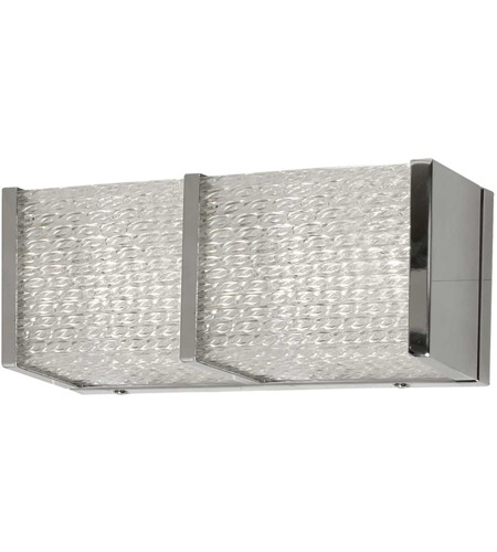Dainolite VLD-4012W-PC Signature LED 12 inch Clear and Polished Chrome Sconce Wall Light