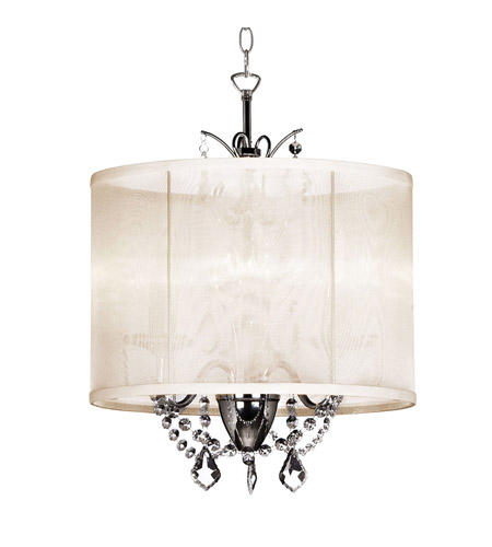Dainolite Lighting Vanessa 3 Light Chandelier in Polished Chrome  VNA-14-3-117 photo