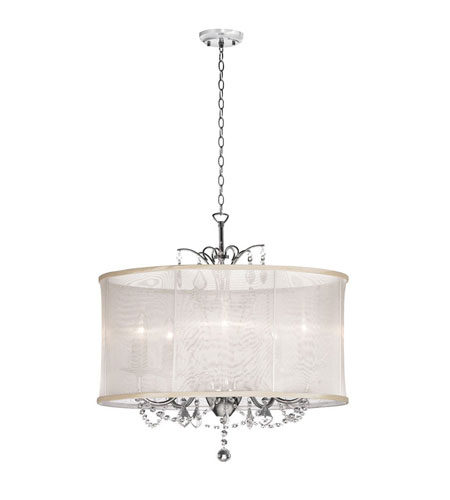 Dainolite Lighting Vanessa 6 Light Chandelier in Polished Chrome  VNA-25-6-117