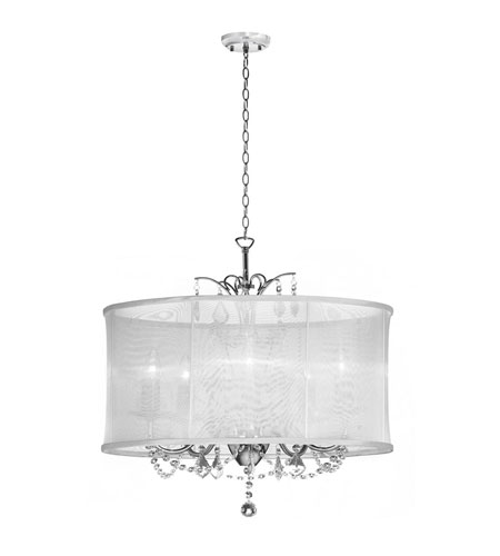 Dainolite Lighting Vanessa 6 Light Chandelier in Polished Chrome  VNA-25-6-119