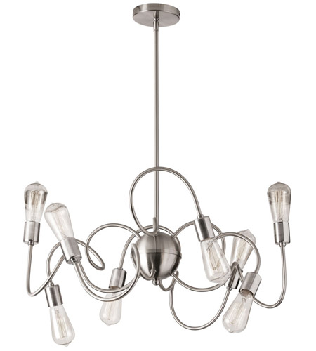 Dainolite WAI-308P-SC Waitsfield 8 Light 25 inch Satin Chrome Pendant Ceiling Light