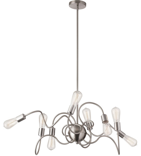Dainolite WAI-4024P-SC Waitsfield 8 Light 40 inch Satin Chrome Pendant Ceiling Light