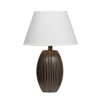 Dainolite Lighting Ceramics 1 Light Table Lamp in Coffee  10026-COF
