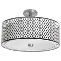 Signature 3 Light 17 inch Satin Chrome Flush Mount Ceiling Light