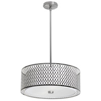 Casual 3 Light 17 inch Satin Chrome Dinette Pendant Ceiling Light