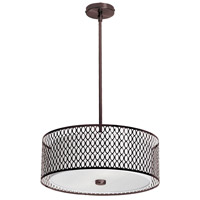 Dainolite Signature 3 Light Pendant in Vintage Oiled Brushed Bronze 1015-17P-VOB