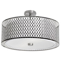 Dainolite Signature 3 Light Flush Mount in Satin Chrome 1015-21FH-SC