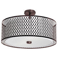 Dainolite Signature 3 Light Flush Mount in Vintage Oiled Brushed Bronze 1015-21FH-VOB