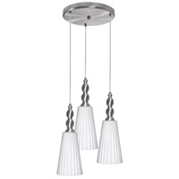 Dainolite Signature 3 Light Pendant in Satin Chrome 1038-4RP-SC