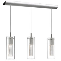 Crystal 3 Light 3 inch Satin Chrome Pendant Ceiling Light