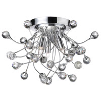 Crystal 3 Light 15 inch Polished Chrome Flush-Mount Ceiling Light
