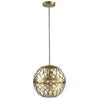Dainolite 121P-AGB Signature 1 Light 12 inch Aged Brass Pendant Ceiling Light