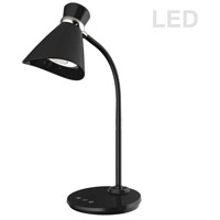 Dainolite 132LEDT-BK Signature 16 inch 6 watt Black Desk Lamp Portable Light