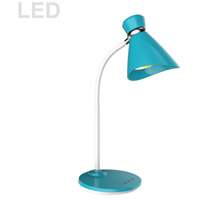 Dainolite 132LEDT-BL Signature 16 inch 6 watt Blue Desk Lamp Portable Light