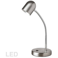 Dainolite 134LEDT-SC Signature 14 inch 5 watt Satin Chrome Table Lamp Portable Light