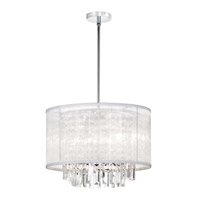 Dainolite Lighting Organza Bling 4 Light Chandelier in Polished Chrome  15174-PC-119