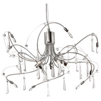 Dainolite Firefly 5 Light Chandelier in Polished Chrome/Satin Chrome 158-19C-PC