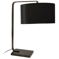 Dainolite 160T-MB Signature 24 inch 60 watt Matte Black Table Lamp Portable Light