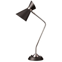 Signature 27 inch 60 watt Polished Chrome Table Lamp Portable Light, Horizantally Adjustable