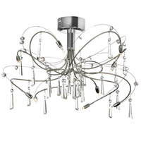 Crystal 10 Light 18 inch Polished Chrome Chandelier Ceiling Light